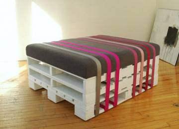 Melissa d co transformer une banquette en table basse astuces d co pour e - Astuce deco fait maison ...